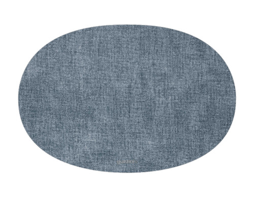 Oval Fabric Reversible Sea Blue Placemat