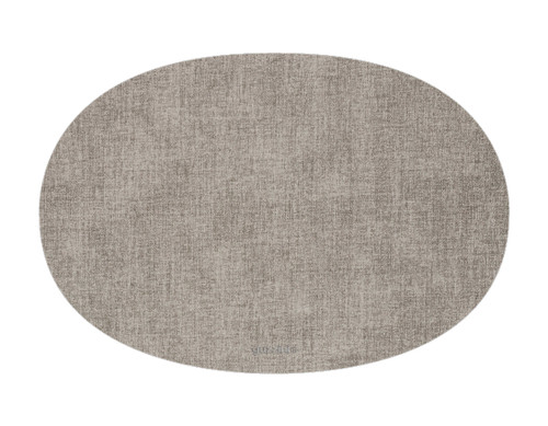 Oval Fabric Reversible Sky Grey Placemat