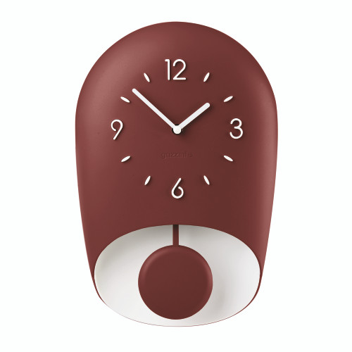 Brick Red Bell Wall Clock