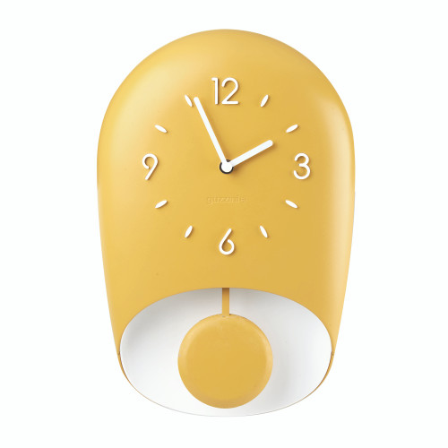 Mustard Yellow Bell Wall Clock
