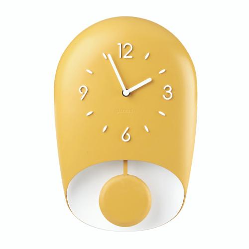 Mustard Yellow Bell Wall Clock