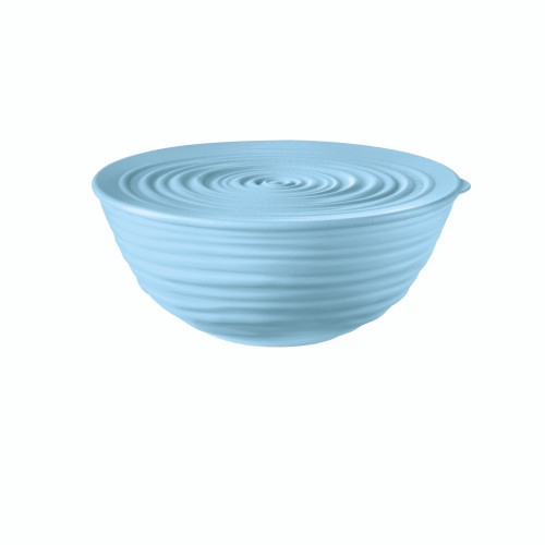 Powder Blue Medium Bowl with Lid