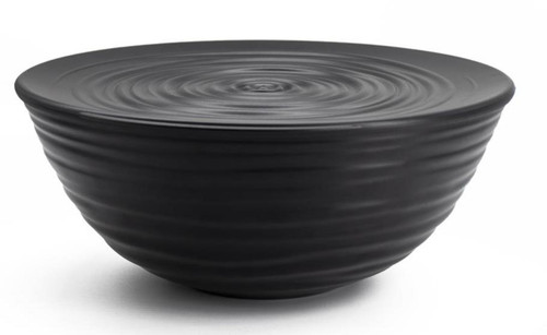 Black Large Earth Bowl with Lid 25cm