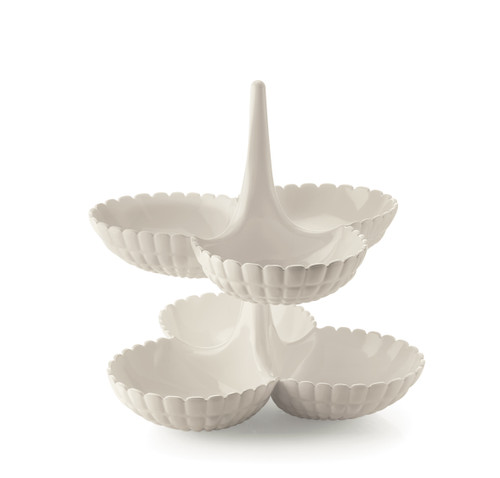 Tiffany White Hors d'oeuvres Dish