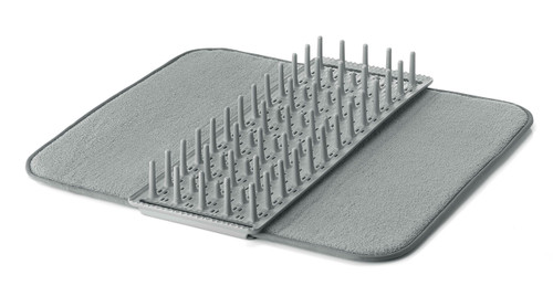 Dry & Safe Grey Dish Drainer with Mat