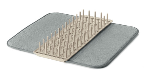 Dry & Safe White Dish Drainer with Mat