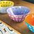 25cm Bowl - Mauve/White/Lilac