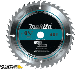"Makita 6-1/2"" 40 Tooth Carbide Cordless Circular Saw Blade  5/8"" Arbor T-01410"