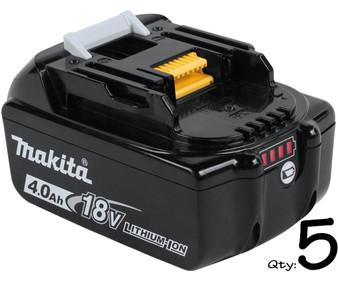 Makita GENUINE Battery 18V 4Ah Lithium Ion & STAR Controls x5  BL1840B