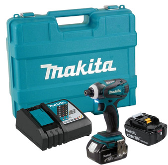 "Makita Impact Driver Kit Cordless 18V Lithium Ion 1/4"" Hex  DTD152"