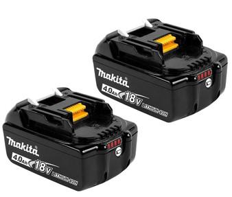 Makita GENUINE Battery 18V 4Ah Lithium Ion & STAR Controls x2  BL1840B