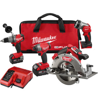 Milwaukee 4 Tool Combo Kit Brushless 18V M18 FUEL 5AH Circular Saw