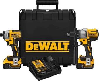 Dewalt Drill BEST#1 XR Brushless 20VMAX5Ah Impact Driver Kit  DCD996 DCF887