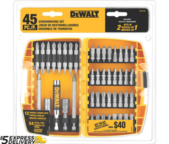 Dewalt Drill Bit Set 45 Piece Screw driving & Tough Case  DW2166