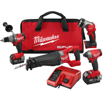 Milwaukee 4 Tool Combo Kit Brushless 18V M18 FUEL 5AH Reciprocating Saw