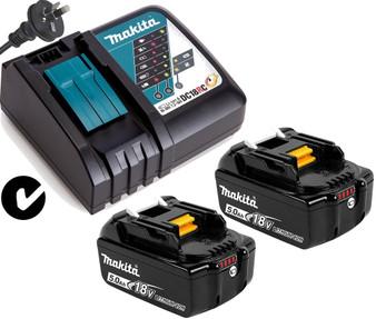 Makita GENUINE Batteries Charger Kit 18V 5Ah Lithium Ion & STAR  BL1850B DC18RC