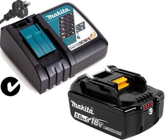 Makita GENUINE Battery Charger Kit 18V 5Ah Lithium Ion & STAR  BL1850B DC18RC
