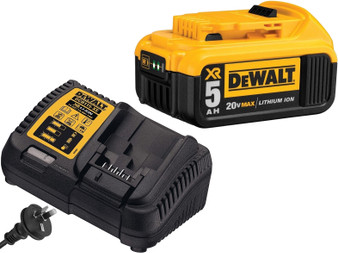 Dewalt Battery & Charger 18V 20V 5Ah Lithium Ion & XR Elec  DCB184 DCB205 DCB115