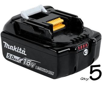 Makita GENUINE Battery 18V 5Ah Lithium Ion & STAR Controls x5  BL1850B