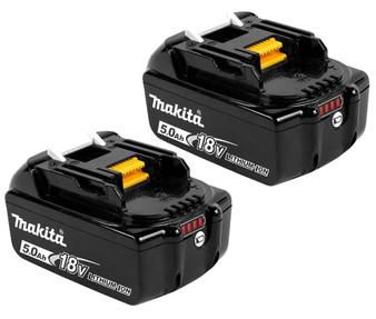Makita GENUINE Battery 18V 5Ah Lithium Ion & STAR Controls x2  BL1850B