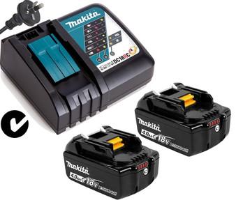 Makita GENUINE Batteries Charger Kit 18V 4Ah Lithium Ion & STAR  BL1840B DC18RC