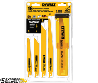 Dewalt 16 Piece Bi-Metal Reciprocating Saw Blade Set  DW4899