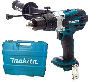 "Makita Drill Hammer Driver Cordless 18V Lithium Ion 1/2"" & Case  DHP458Z"
