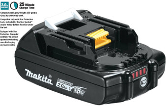 Makita GENUINE Battery 18V 2Ah Lithium Ion & STAR Controls  BL1820B
