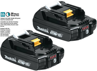 Makita GENUINE Battery 18V 2Ah Lithium Ion & STAR Controls x2  BL1820B