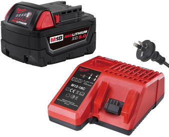 Milwaukee GENUINE Battery Charger Kit 18V M18 5Ah Lithium Ion & REDLINK  M1218C