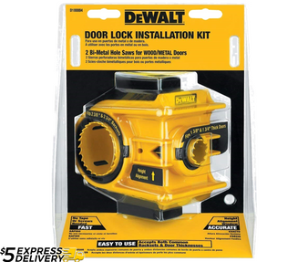 Dewalt Bi-Metal Door Lock Installation Kit  D180004