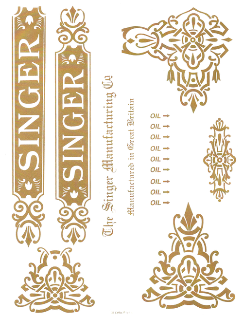 Singer 31 Celtic Decals for Commercial Machines  SingerDecals.com