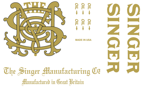 Singer 31- Monogram Decals for Commercial Restorations