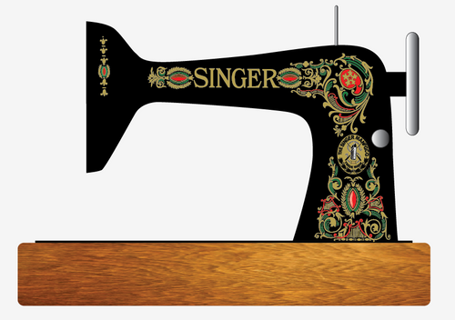 Singer 66 Sewing Machine Red Eye Style Restoration Decals Multi-Color  SingerDecals.com