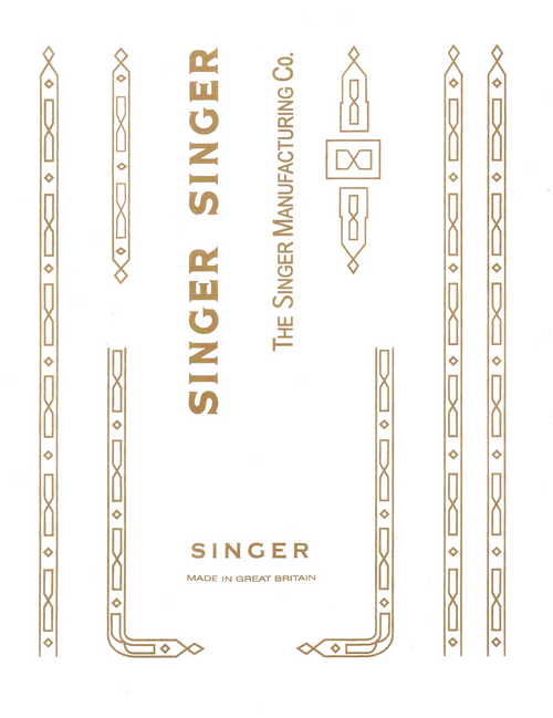 Singer 201K Sewing Machine Waterslide Restoration Decals