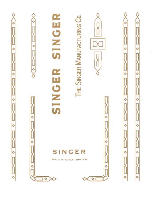 Singer 201K Restoration Decals