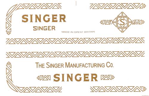 Singer 206 Sewing Machine Waterslide Restoration Decals  SingerDecals.com