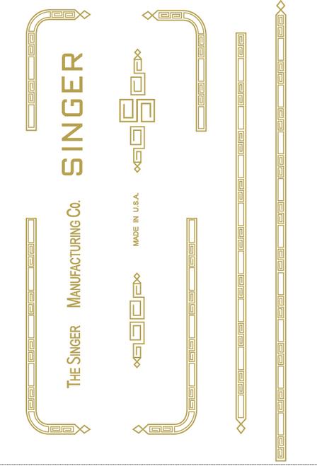 Singer 301 Sewing Machine Waterslide Restoration Decals Paperclip Design  SingerDecals.com