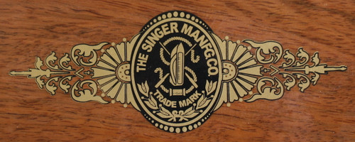 Singer Early Style Sewing Machine Bentwood Case Restoration Decal  SingerDecals.com