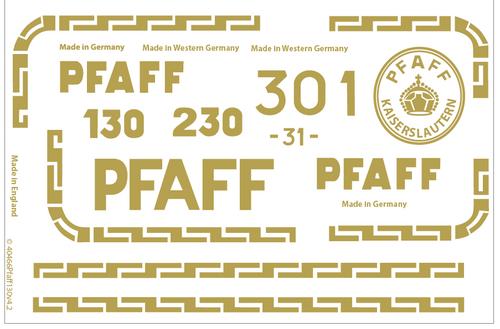 Pfaff 30 130 Restoration Decals
