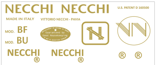 Necchi  Restoration Decals