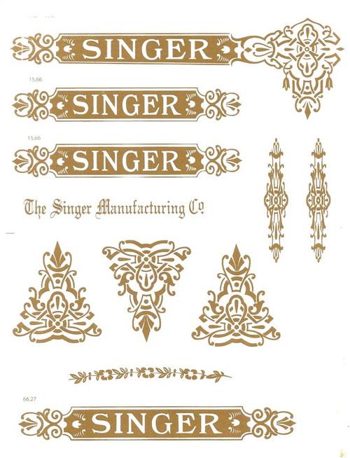 Singer 27 VS2 Decals for Restorations Celtic Design  SingerDecals.com
