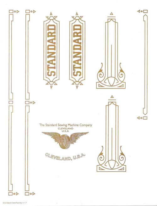 Standard Sewhandy Sewing Machine Restoration Decals  SingerDecals.com