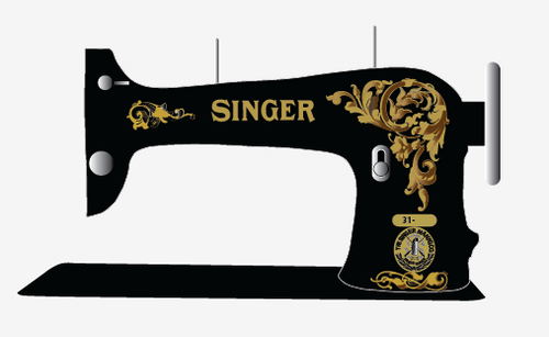 Singer 31- Acanthus Leaves Decals for Commercial Machines  SingerDecals.com
