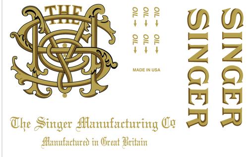 Singer 31- Monogram Decals for Restorations 2 Color 40930