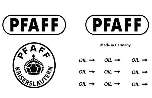 Pfaff Commercial Sewing  Machine Restoration Decals
