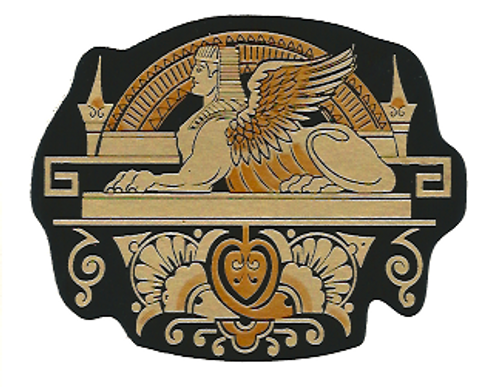 Singer Sphinx Center Bed Sample Restoration Decal
