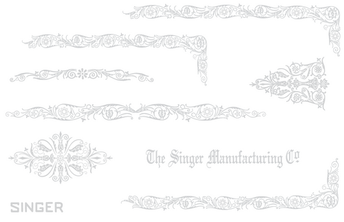 Custom Decal set for Singer 221