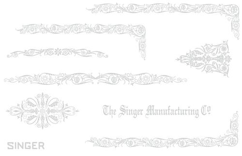 Custom Decal set for Singer 221