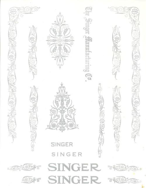 Singer 66 Restoration Decals
